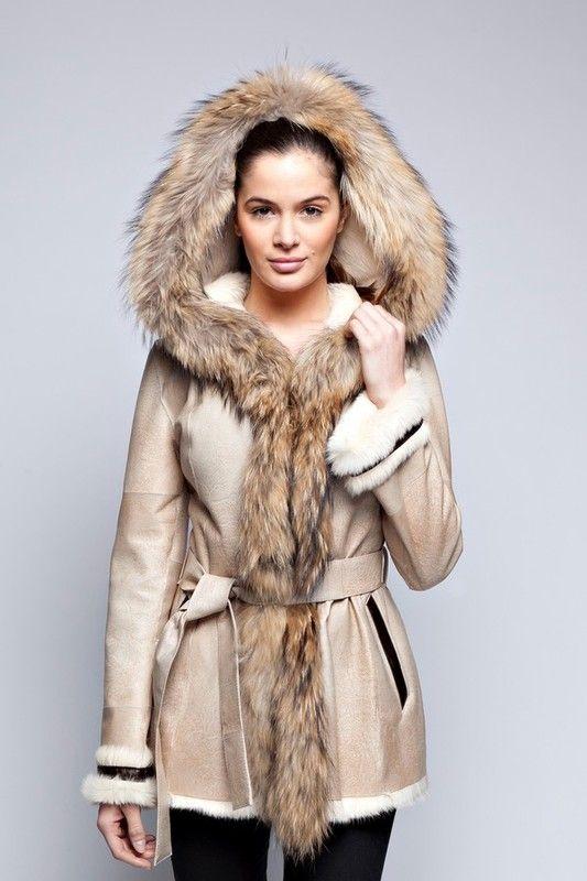 Manteau femme a fourure
